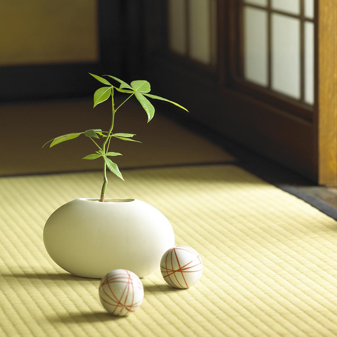 畳の部屋や調度品で日本を感じる