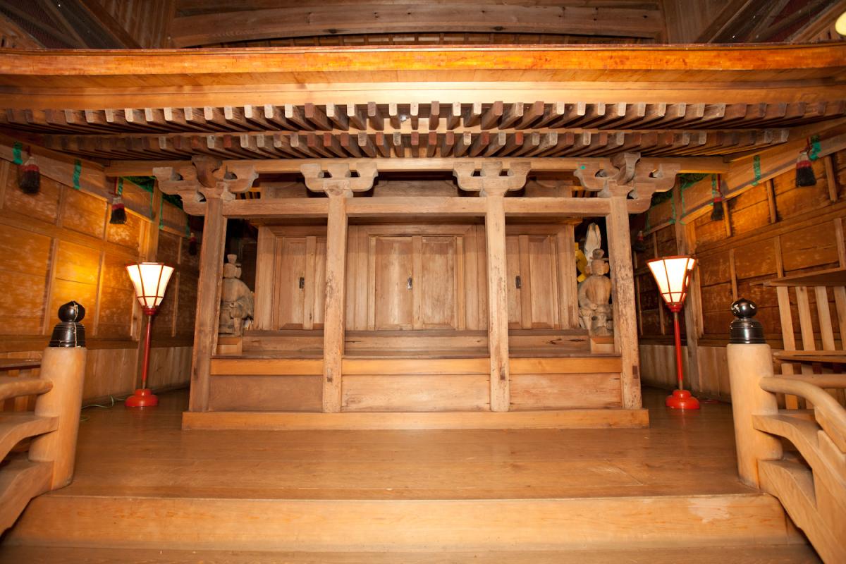 Ubusunagami (birthplace guardian deity) for people in Kisogaito, Handa and Mikka-cho