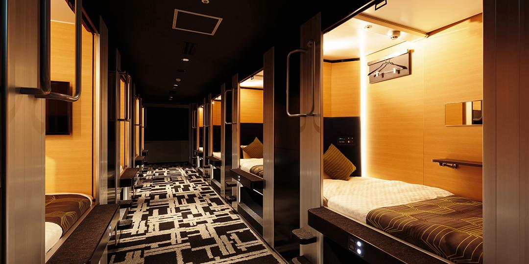 予約の厳しい時期でもお値打ち価格で宿泊 カプセルホテルインスパイア系の次世代ホテル