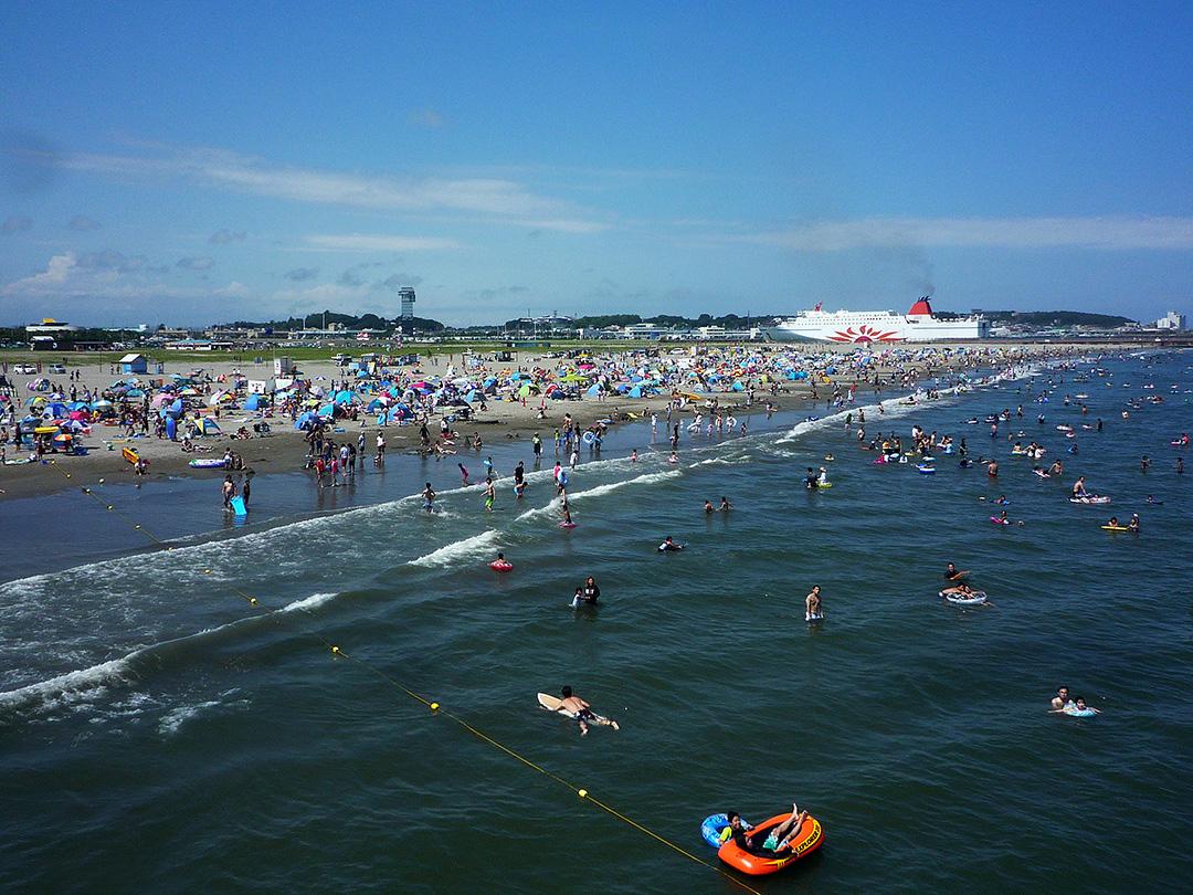砂浜が広い!『大洗サンビーチ』