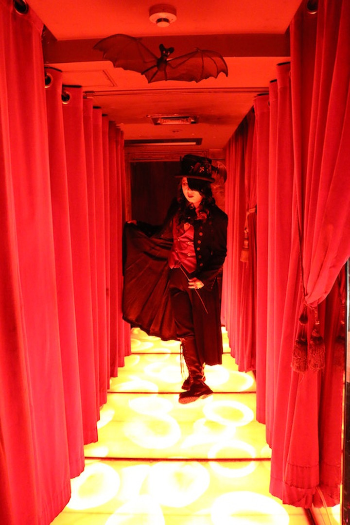 Looking at its red corridor, we got excited as vampires…