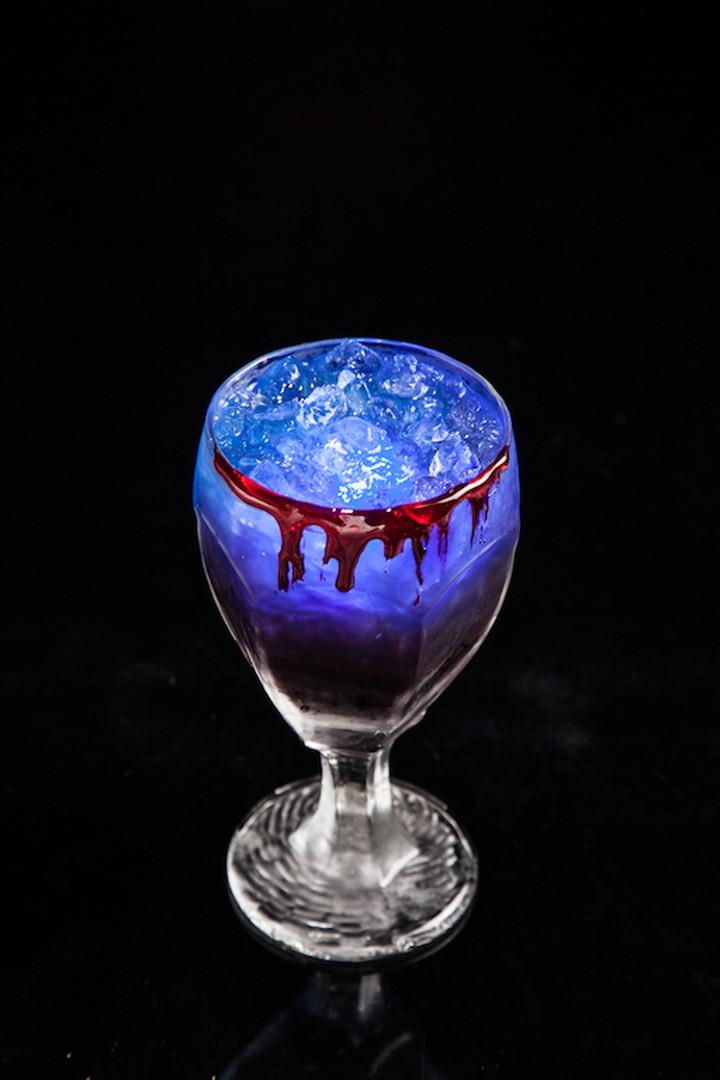 It is an original cocktail made based on a concept of the vampire.