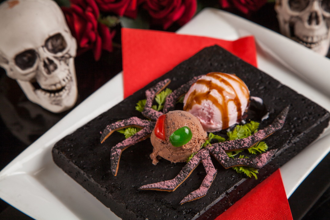 A poisonous spider appears as a desert.