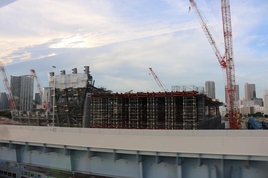 正在建设中的东京五环会场,只有现在才能看到哦。