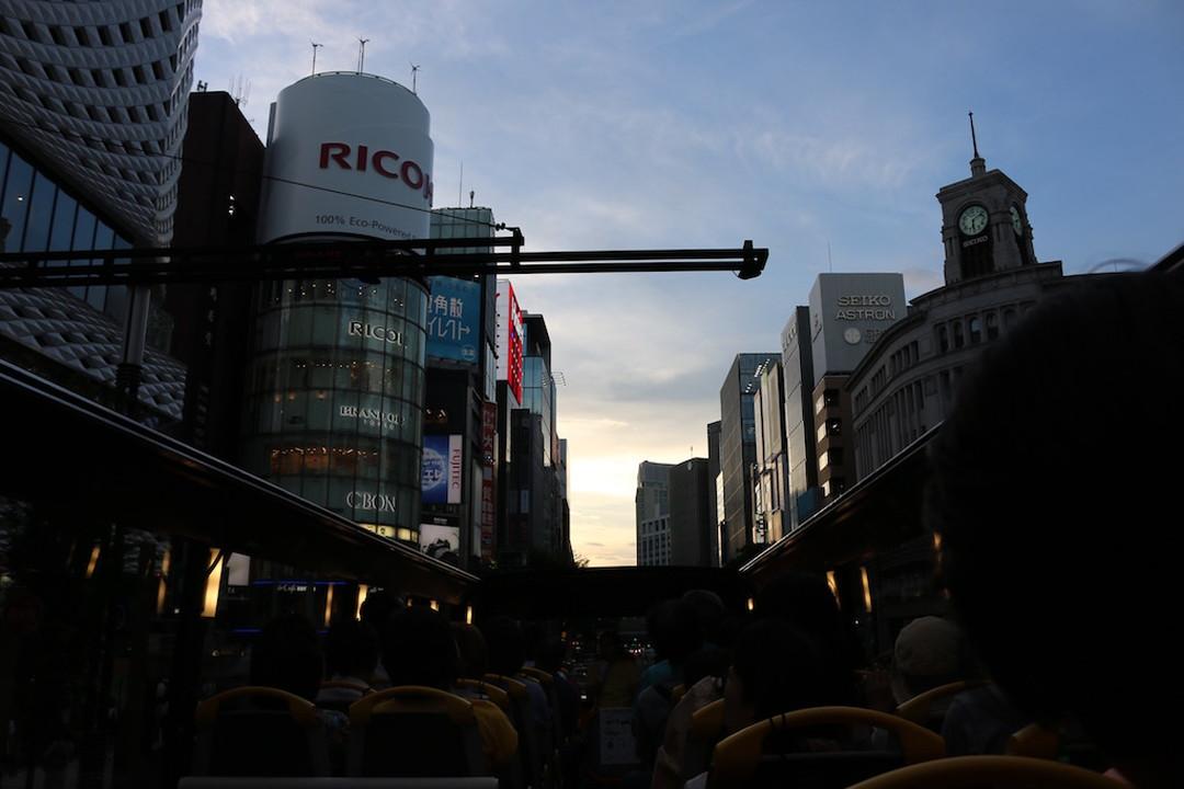 俯视高级的繁华街---银座