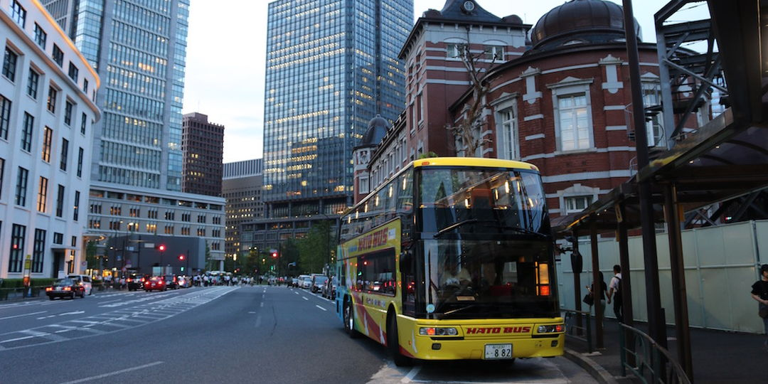 【TOKYO 나이트 스폿】 [하토버스] 2층 오픈 버스 체험!