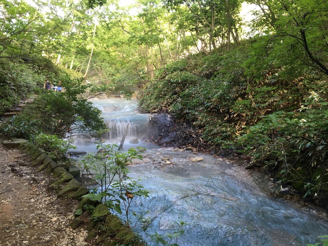 An onsen river