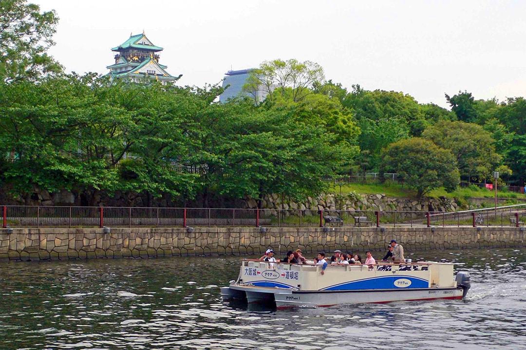 水都號水上mini大阪城—道頓堀路線