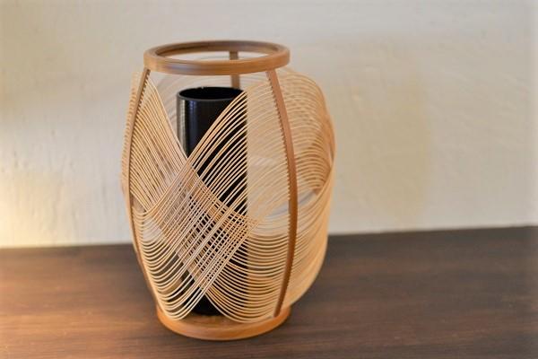 極細の丸ひごが織りなす「駿河竹千筋細工」の造形美