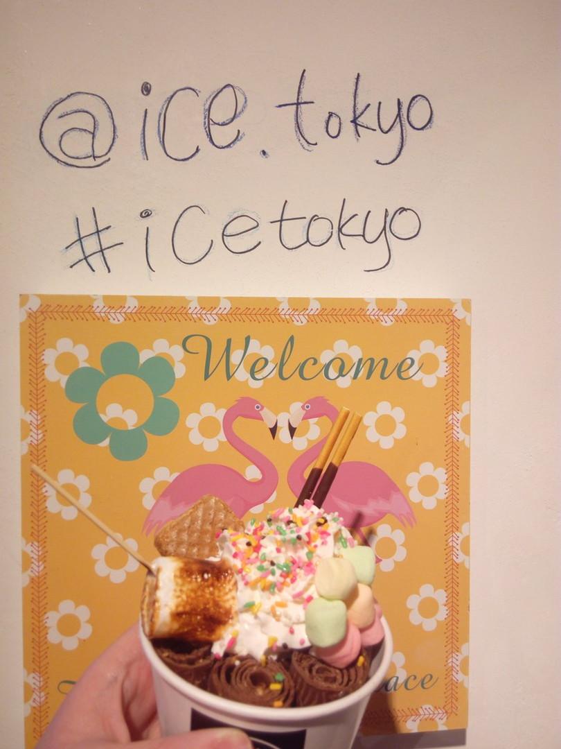 아이스 도쿄의 팬에서 볶은 아이스크림