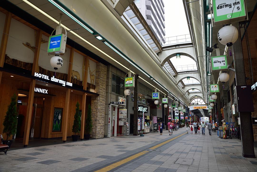 最大规模的拱顶商店街【狸小路商店街】