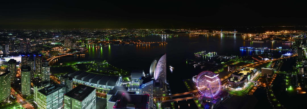 "Night view overlooking from 273 m! Observation deck on the 69th floor""Sky Garden"""