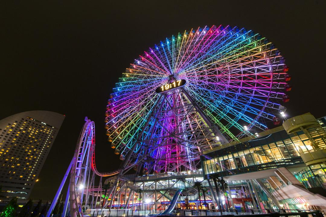 """A huge kaleidoscope!? """"Cosmo Clock 21"""" in Yokohama Cosmo World"""
