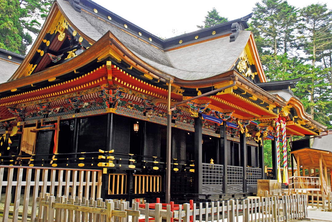 """Oosaki Hachimangu Shrine,"" created under Date Masamune's order"