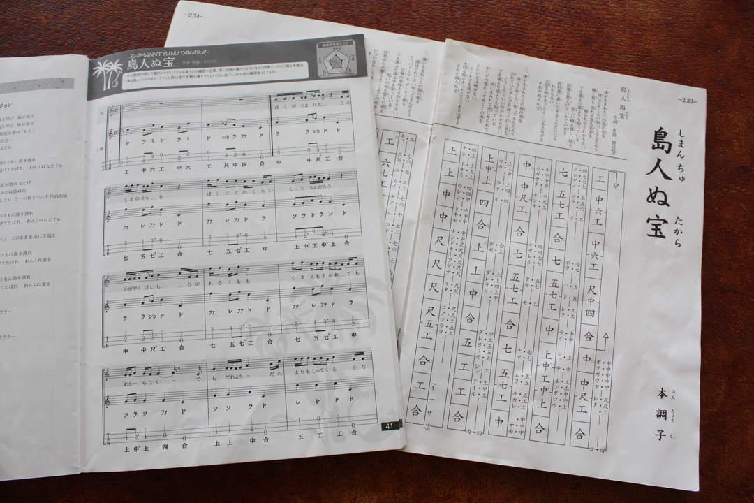 """使用的是将传统乐谱""""工工四""""换成现代指法谱的简单易懂的乐谱。"""