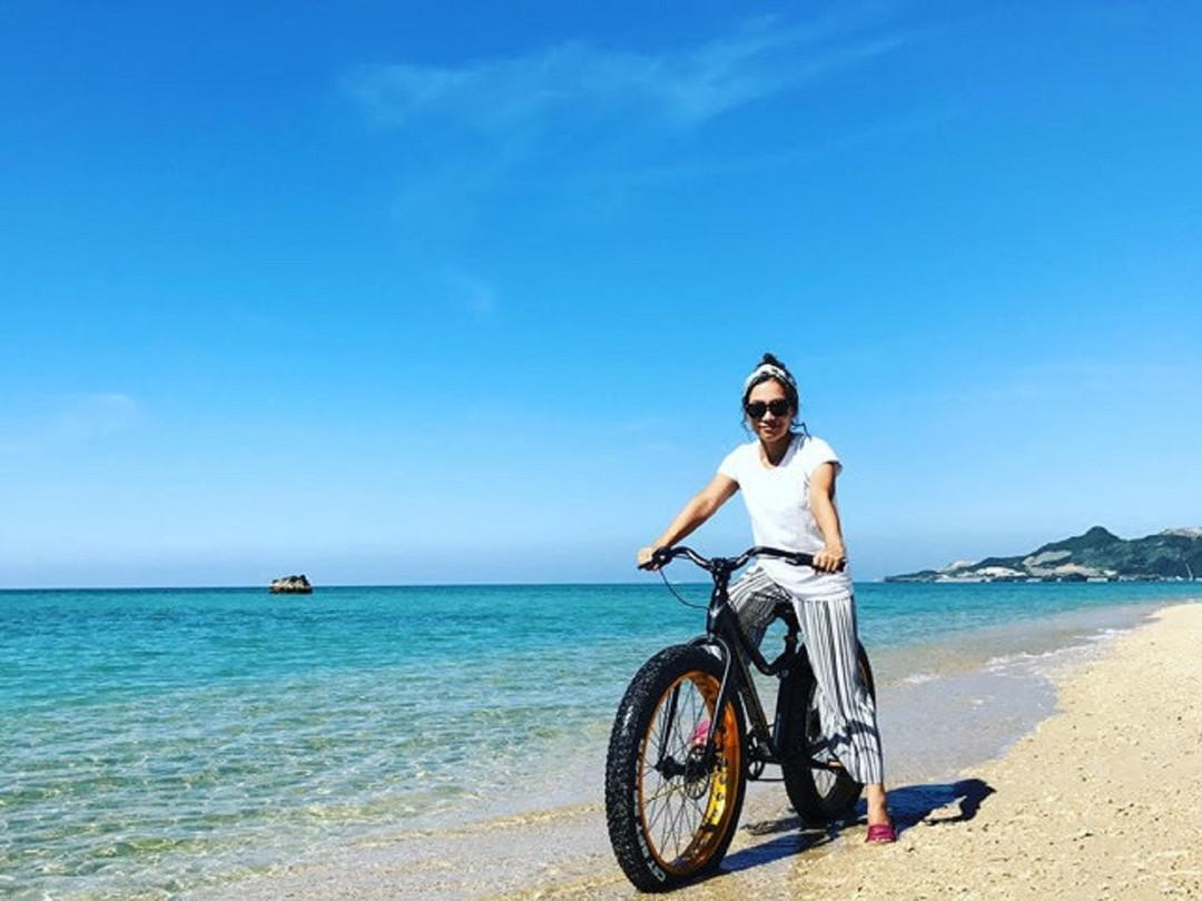 骑上粗车胎的越野自行车,心情非常愉快!!