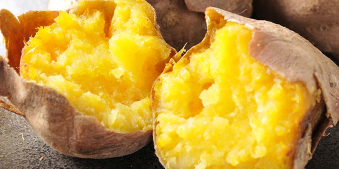 Golden shining Anno Potato produced in Tanegashima Island with a high sugar content is like sweets.