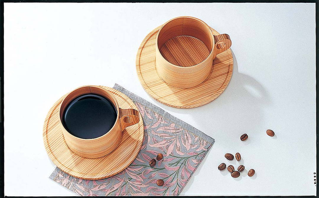 """Bentwood cups"" which you can be healed by Japanese warmth"