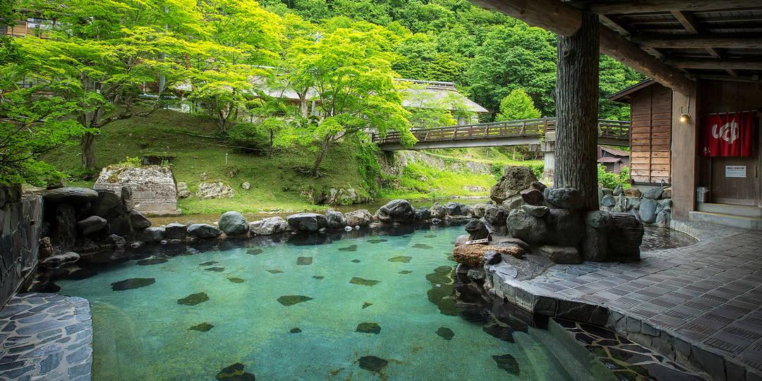 【花卷南温泉峡】在溪流沿岸的名汤畅享一日游温泉