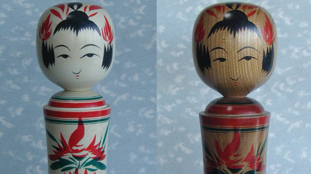 "The traditional form can be enjoyed as a modern interior. Adorable ""Naruko Kokeshi"""