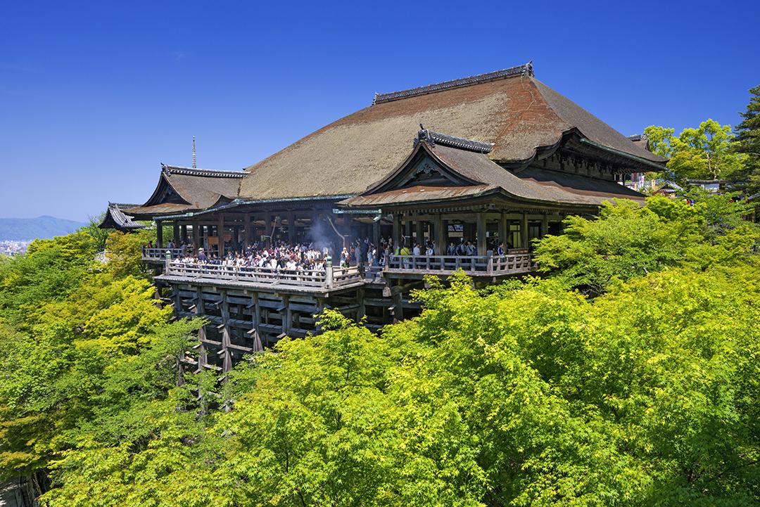 從舞台眺望的美景令人屏息 清水寺
