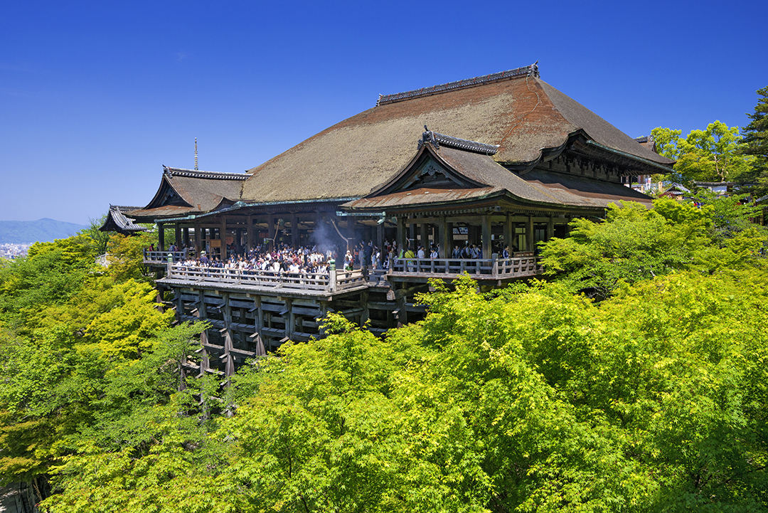 The view from Hondo is breathtakingly beautiful Kiyomizu-dera Temple