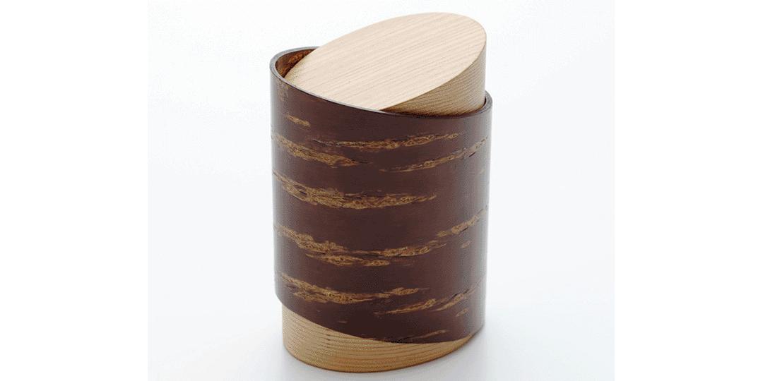 武士的副業是起源!? 櫻皮的深邃光澤美麗至極的「樺細工」茶筒