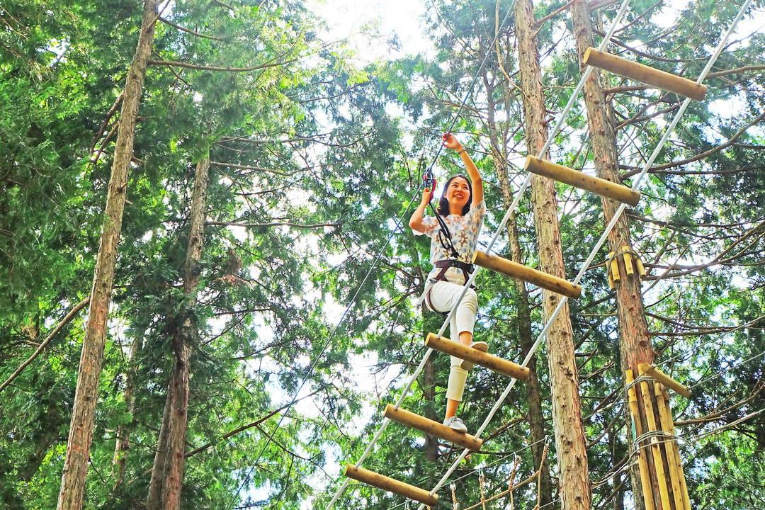 """保持大自然原始的体育运动""""森林大冒险"""""""