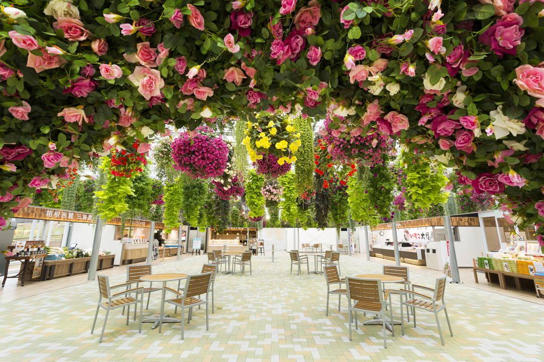 """在美丽花朵盛开的""""天空花园""""休息片刻"""