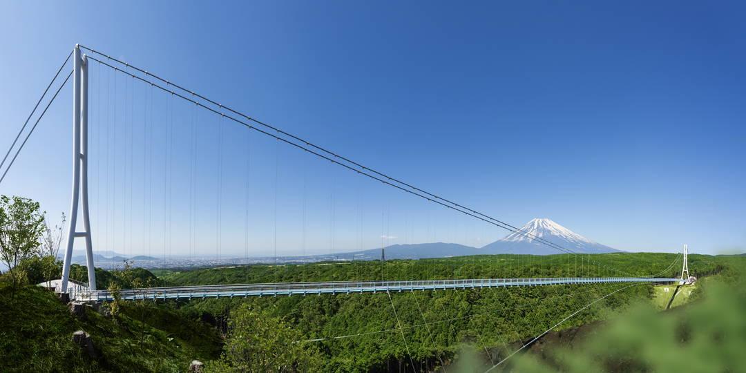 【日本最长吊桥】落差70米! 在三岛SKYWALK,尽享富士山的絶景!
