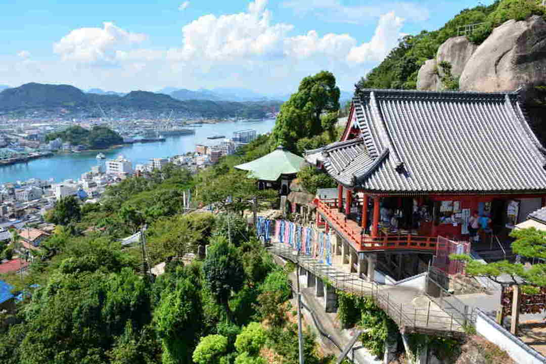 Overlooking the town of Onomichi from Senko-ji Temple on the peak