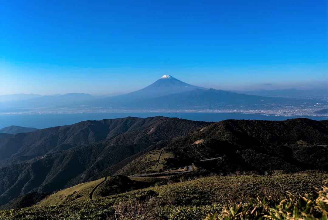 富士山と駿河湾の両方を望む贅沢景色