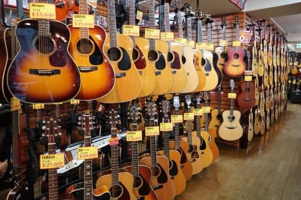 能滿足音樂家需求的二手樂器的流通量超大!