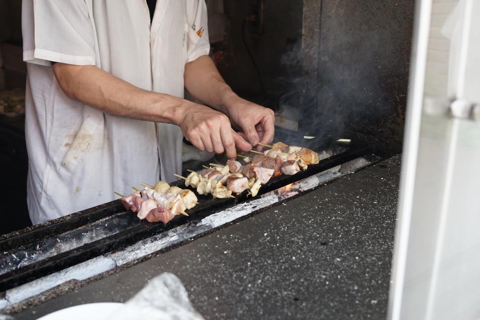이노카시라 공원을 산책하면서 어떠세요? '닭꼬치 / 이세야 공원점'