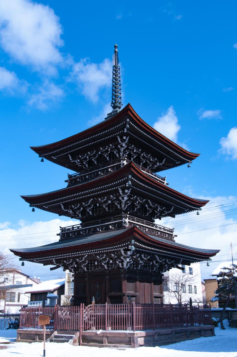 Kokubun-ji Temple's three-story pagoda