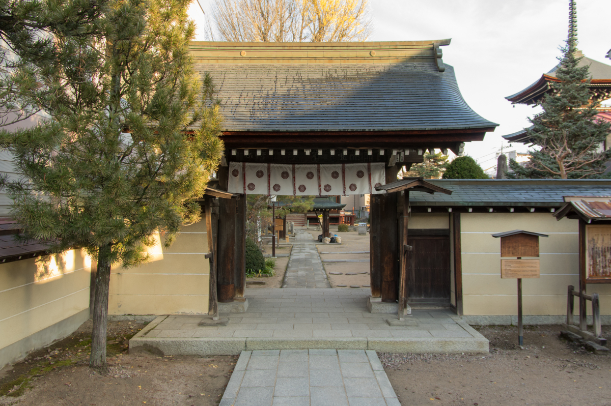 Front gate of Kokubun-ji Temple