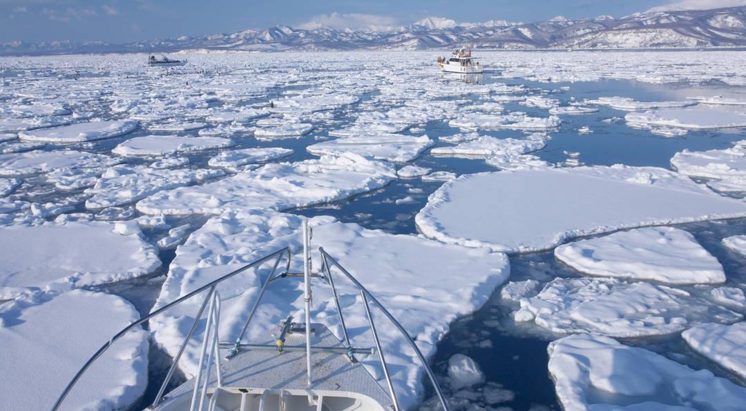 網走的流冰