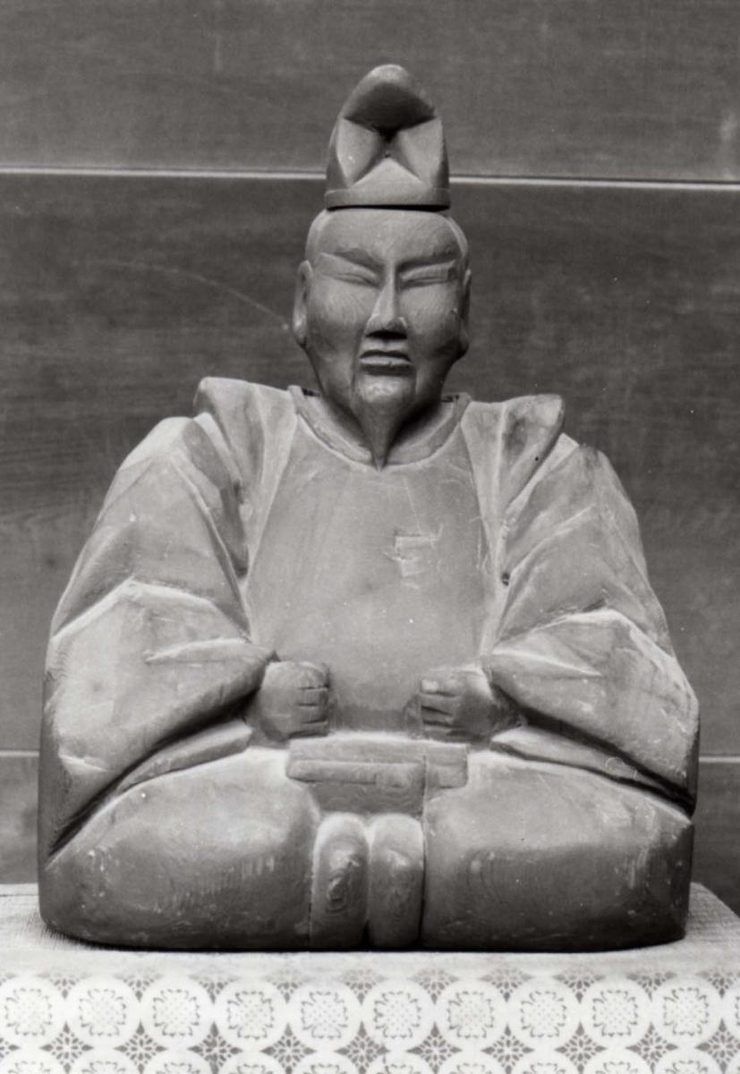 飛驒木匠木鶴大明神像與版木